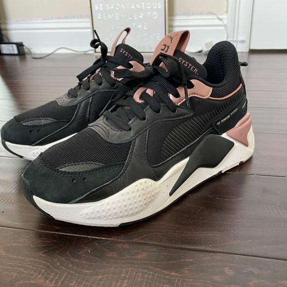 Puma Shoes | Rsx Black And Pink | Poshmark